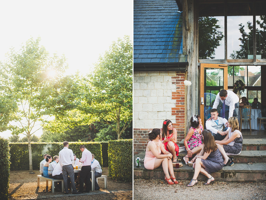 guests-on-steps-outside-barn