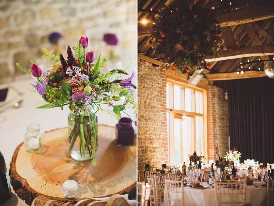 floral-centrepieces-grittenham-barn