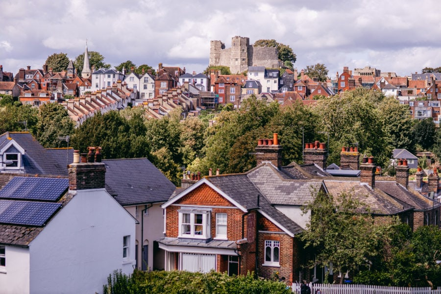 Lewes Castle from Mountfield Road