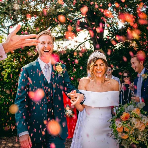 Confetti at a Brighton Wedding